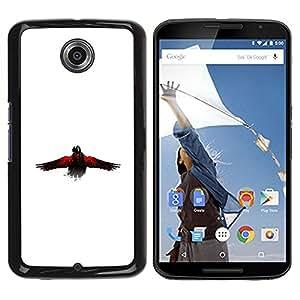 Be Good Phone Accessory // Dura Cáscara cubierta Protectora Caso Carcasa Funda de Protección para Motorola NEXUS 6 / X / Moto X Pro // The Crow Raven