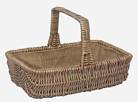 Wicker Rectangular Garden Basket Trug set of 3