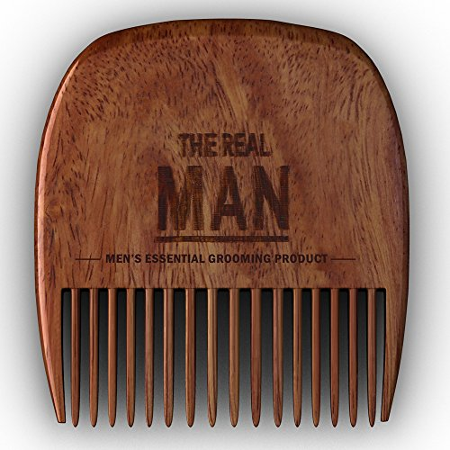 Wooden Beard Comb & Case - Fine & Coarse Teeth from THE...