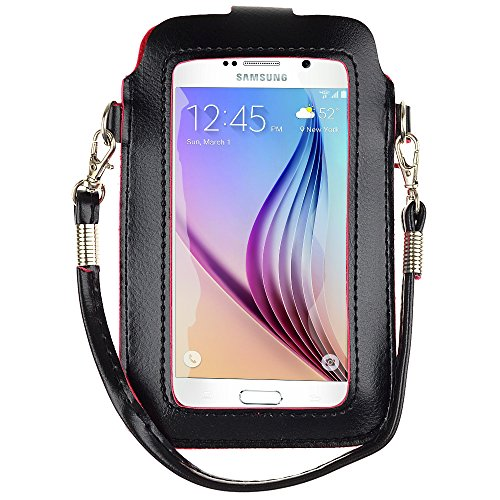 Price comparison product image Faux Leather Bag Case Pouch for iPhone 6S / / HTC Desire 626 526 612 (Black) (Black)