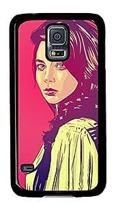 Diy Fashion Case for Samsung Galaxy S5,Black Plastic Case Shell for Samsung Galaxy S5 i9600 with Beauty Kimberly Kurzendoerfer