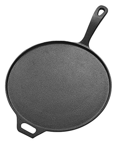 American Metalcraft CILP12 Low-Profile Round Cast Iron Pans,