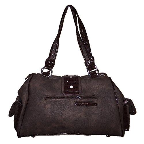 0830 Handbag in 3 Purse Coffee colors Shoulder Angel Rhinestone Wings Buckle UgTcwIYWBq