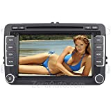 2006-2014 Volkswagen Jetta Passat GTI 2007-2014 Volkswagen EOS 2009-2014 Volkswagen CC Tiguan Golf 2012-2014 Volkswagen Beetle In-Dash GPS Navigation Stereo DVD CD MP3 AVI USB SD Radio Bluetooth Hands-free A2DP Music Streaming Steering Wheel Controls Touch Screen iPod-Ready iPhone-Ready AV Receiver Video Audio Player Multimedia Infotainment System w/ Digital TV Rear View Camera OEM Fit Replacement Install Deck