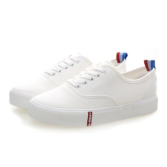 9bc2cb06475755 AMIEHDGBNWE Klassische Reine weiße Schuhe Ergreift College weißen Schuh Atmungsaktive  Leinenschuhe Kleine weiße Schuhe Schuhe für ...