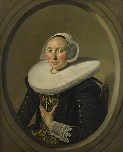 [The Polyster Canvas Of Oil Painting 'Frans Hals Portrait Of A Woman (Marie Larp) ' ,size: 24 X 30 Inch / 61 X 75 Cm ,this High Resolution Art Decorative Canvas Prints Is Fit For Bathroom Decoration And Home Decor And] (Larp Costumes Uk)