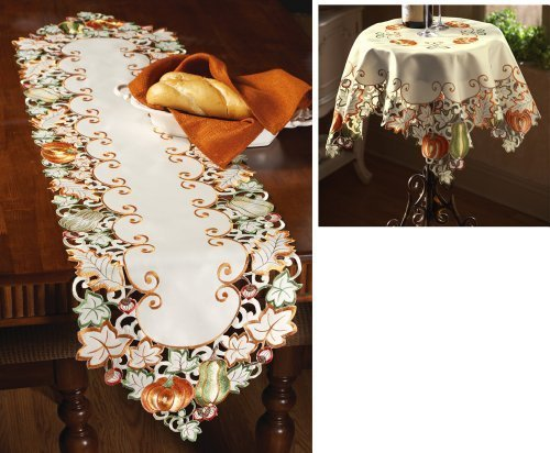 Autumn Harvest Diecut Decorative Table Linens, Runner -
