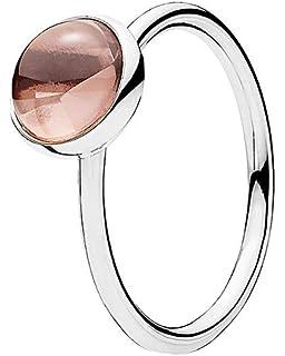 536566d5377d5 Amazon.com: PANDORA Poetic Droplet Ring, Blush Pink Crystal ...