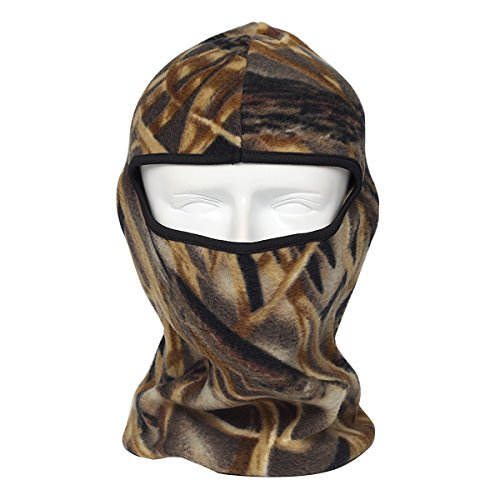 Balaclava Ski Mask, DUZCLI Warmest Fleece Camouflage Face Balaclava Hat for Hunting gear,Skiing, Snowboarding, Motorcycle, Running ,ect (Camo-Brown) (Hunting Gear For Boys compare prices)