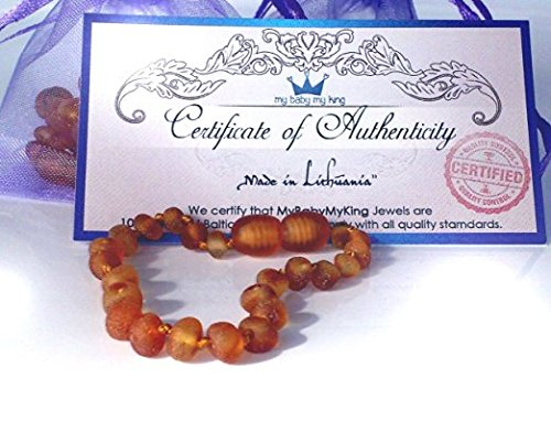 Teething Bracelet Cognac Natural Baroque product image