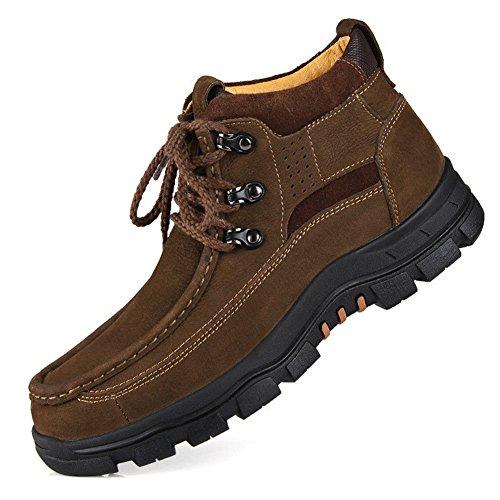 Chaussures De Sport Pour Hommes Occasionnels Alpinisme Automne Extérieur [fond Mou] Bottes Slip Marron-noir-b Longueur Du Pied = 38.5eu
