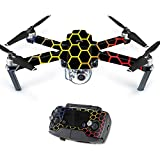 Skin For DJI Mavic – Primary Honeycomb | MightySkins Protective, Durable, and Unique Vinyl Decal wrap cover | Easy To Apply, Remove, and Change Styles | Made in the USA