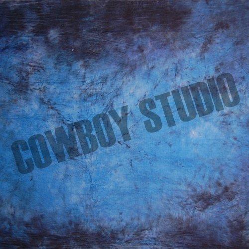 CowboyStudio Hand Painted 10 X 12 Feet Blue Purple Muslin Photography Backdrop Blue Hand Painted Muslin