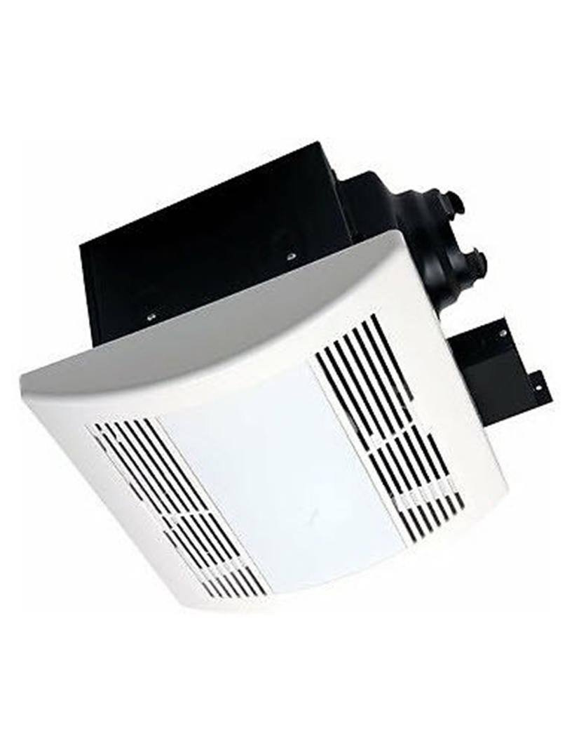 Image of Electronic Cooling Fans AirZone Fans SELF90H Exhaust Ventilation Fan with Humidity Sensor, 1 Lamp 23W Fluorescent Light and 1-4W Night Light, Very Quiet, 90 CFM