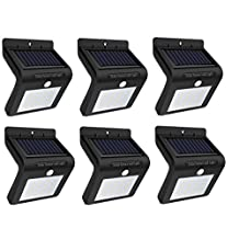 NatureGlow Outdoor Security Solar 16 LED Light with Motion Sensor, Waterproof, Solar Powered & Energy Saving, Wireless Security Outdoor Bright Wall Lights for Garden, Fence, Patio, Walkway or Driveway. (6)