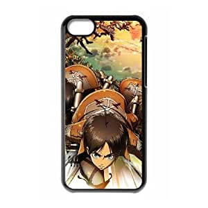 iPhone 5c Cell Phone Case Black Attack On Titan 009 SH3983561