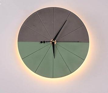Hhord Zement Led Uhr Nordic Wandleuchte Retro Industrie Wanduhr
