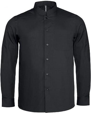 Bargear® - Camisa de Manga Larga y Cuello Mao para Hombre