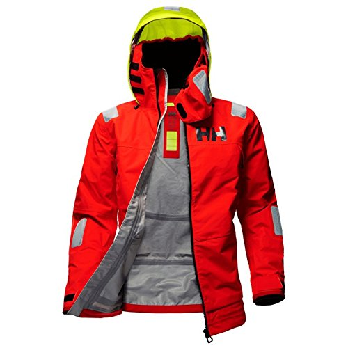 Mens Race Jacket - Helly Hansen Men's Aegir Race Jacket, Alert Red, L