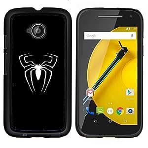 Araña superhéroe sesión- Metal de aluminio y de plástico duro Caja del teléfono - Negro - Motorola Moto E2 / E(2nd gen)