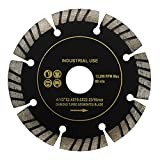 4-1/2 Inch Turbo Segmented Cutting Diamond Blade With 7/8 Inch or 5/8 Inch Arbor Tile Saw Tools (Set of 10)