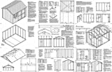 8' x 10'Gable Storage Shed Project Plans