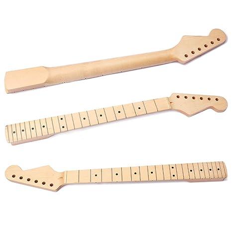 Cuello de guitarra para ST, 22 trastes de arce diapasón guitarra ...