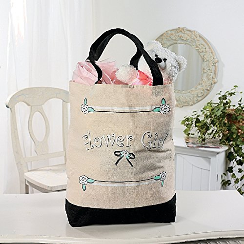 Fun Express Flower Girl Tote (Flower Girl Canvas Tote Bag)