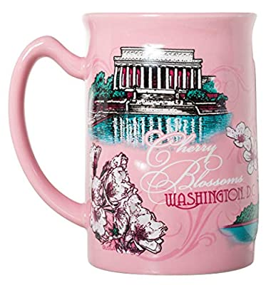 Washington DC City Souvenir Cherry Blossoms 15oz Coffee Mug