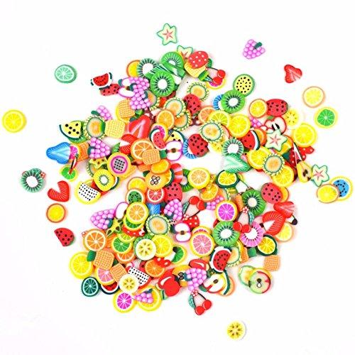 Large Product Image of StaiBC Nailart Tools 144pcs 3D FIMO Slice Fresh Fruit Face Decoration