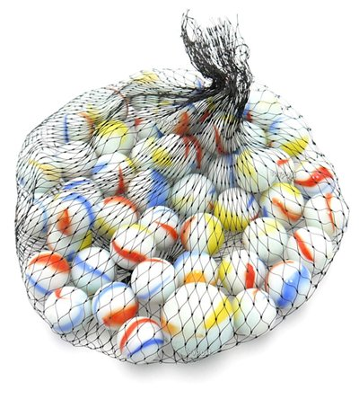 A & Nクラシックレトロガラスmarbles-ビー玉様々なパック。 Pack of 50 ホワイト Marbles B076YK9CK3 ホワイト Pack of 50