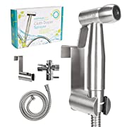 HeepWah Stainless Steel Diaper Sprayer and Bidet Sprayer for Toilet - Handheld Bidet with Adjustable Spray Perfect for Cloth Diapers and as Personal Shattaf - Modern Bidet for Toilet Sprayer Set