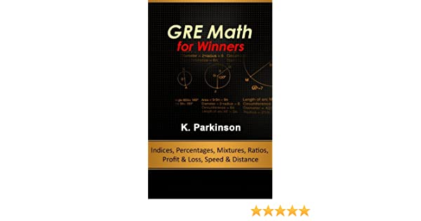 Amazon.com: GRE Math for Winners - Indices, Percentages, Mixtures ...