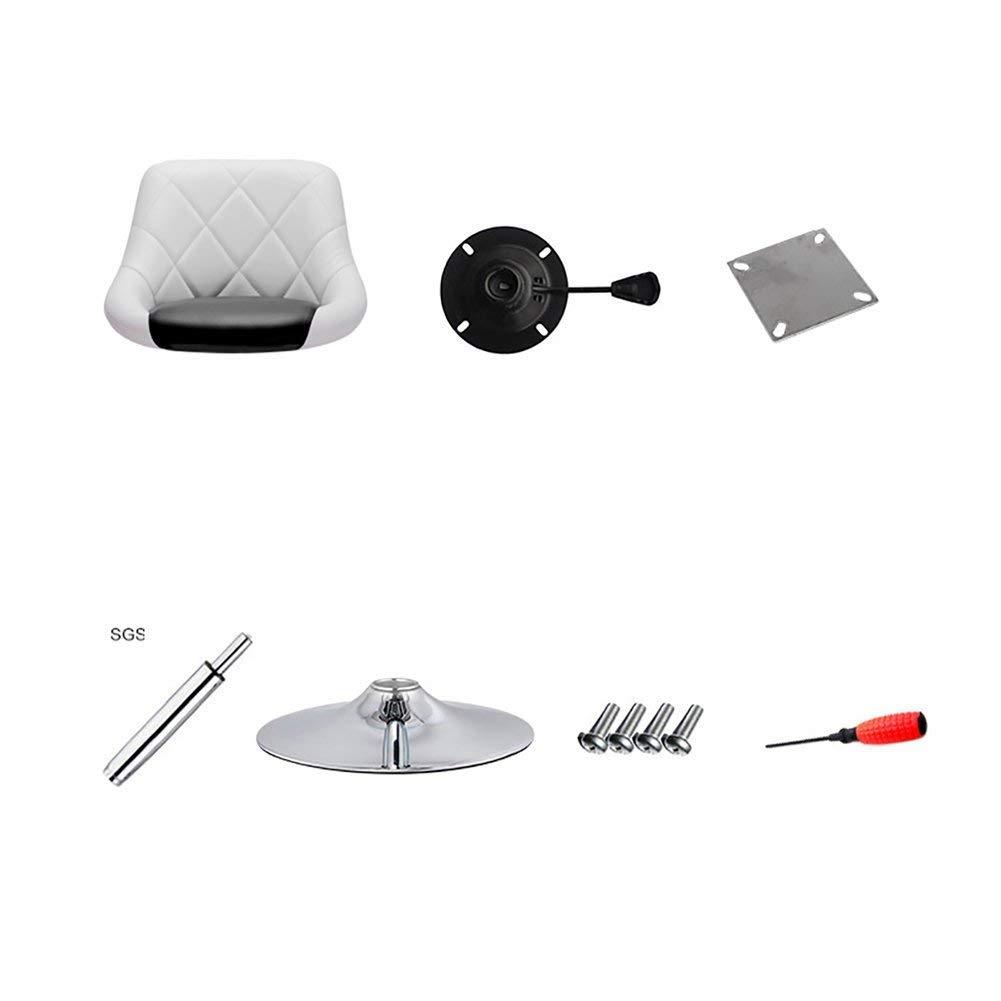 WLG Drehstuhl Moderner minimalistischer drehbarer niedriger Bürostuhl, Werkbank, bequemes und atmungsaktives PU-Leder, verstellbar, 3 Kreatives Zuhause,4