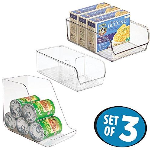 mDesign Organizer Storage Refrigerator Freezer