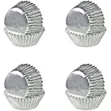 200 Count Foil Metallic Cupcake Case Liners Muffin Baking Paper Cups (Silver)