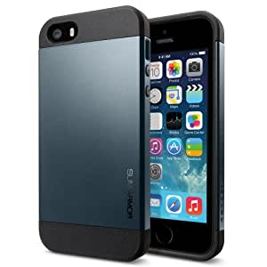 Spigen Slim Armor iPhone 5S / 5 Case with Advanced Drop Protection and Dual Layer Design for iPhone 5S / iPhone 5 - Metal Slate