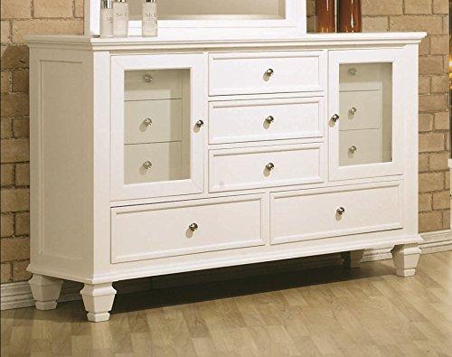 Sandy Beach 11-Drawer Dresser White