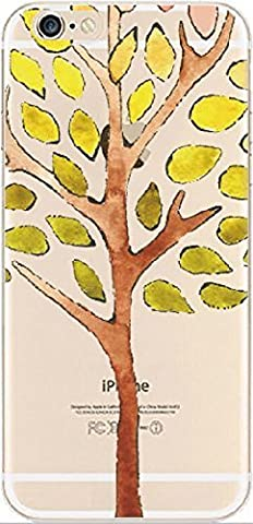 iPhone 6 Case, DECO FAIRY® Protective Case Bumper[Scratch-Resistant] [Perfect Fit] Ultra Slim Translucent Silicone Clear Case Gel Cover for Apple iPhone 6 (tree in (One Direction 5sos Iphone 6 Case)