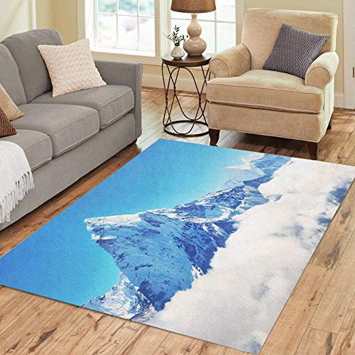 Pinbeam Area Rug Mountain Peak Everest Highest in The World National Home Decor Floor Rug 5' x 7' Carpet
