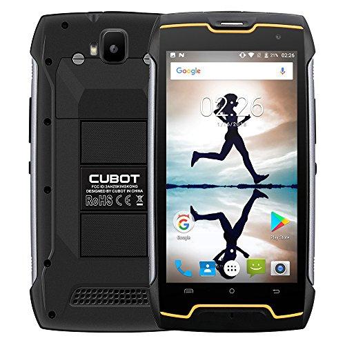 (Cubot KingKong IP68 Waterproof Rugged Phone 16GB 3G Unlocked Smartphone Dual SIM Outdoor Travel Tool 5.0 inch IPS Screen Black)