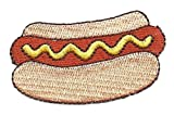HOT DOG & BUN-FOOD-PICNIC-BARBECUE-FAST FOOD/ Iron On Embroidered Applique Patch