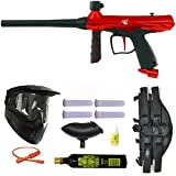 Tippmann Gryphon Paintball Marker Gun 3Skull 4+1 9oz Mega Set - Red