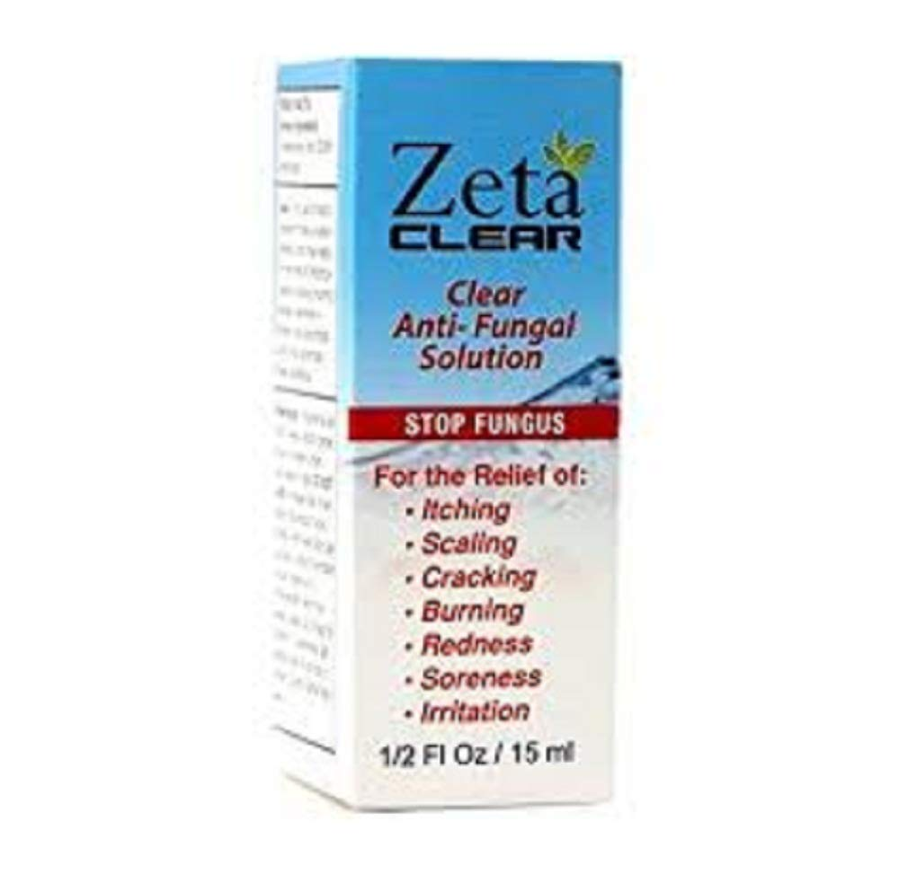 Zeta Clear Nail Fungus Killer Topical Treatment Solution Easy To Use Toenail 1 Pack 1/2 fl oz / 15 ml