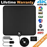 novopal [UPDATED VERSION] Indoor HD Digital TV Antenna   60~80 Miles Long Range   Support 4K 1080P with Amplified Signal Booster  HDTV Antennas