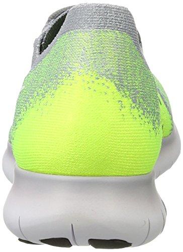 007 NIKE 's Grey Green Free volt electro Competition White wolf Multicolour Flyknit Running Men Shoes Grey 2017 Cool Rn BrU5Bqw