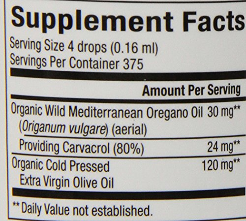 Natural Factors, Certified Organic Oil of Oregano Liquid, Helps Maintain Good Health with Extra Virgin Olive Oil, 2 oz (374 Servings)