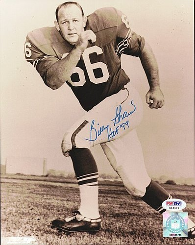Billy Shaw Signed 8x10 Photograph Bills - Certified Genuine Autograph By PSA/DNA - Autographed Football Photograph Shaw Buffalo Bills