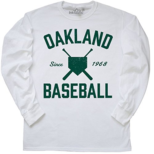 fan products of inktastic Oakland Baseball Long Sleeve T-Shirt Large White
