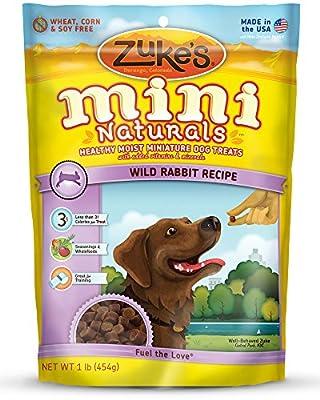 Zuke's Mini Naturals Dog Treats, Wild Rabbit Recipe, 1-Pound from Zuke's
